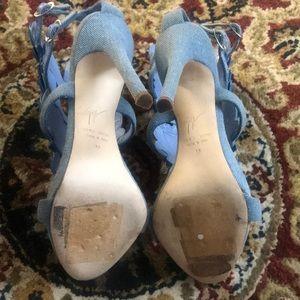99555783c Giuseppe Zanotti Shoes - GIUSEPPE ZANOTTI Cruel Summer Denim Wings Sandals